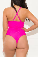 Camps Bay Beach One Piece Swimsuit Hot Pink