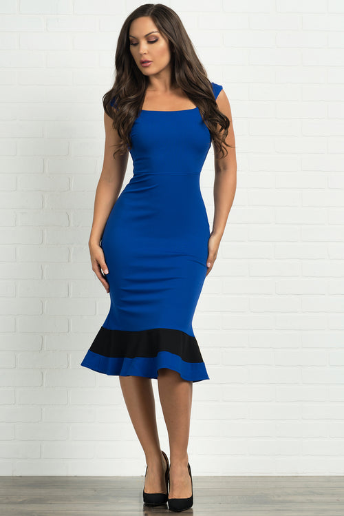 Gracie Midi Dress - Royal Blue
