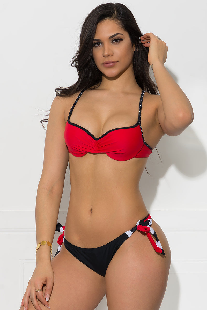 Surfer Coast Three Piece Swimsuit Red