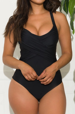 Mermaid Coast Two Piece Swimsuit- Black