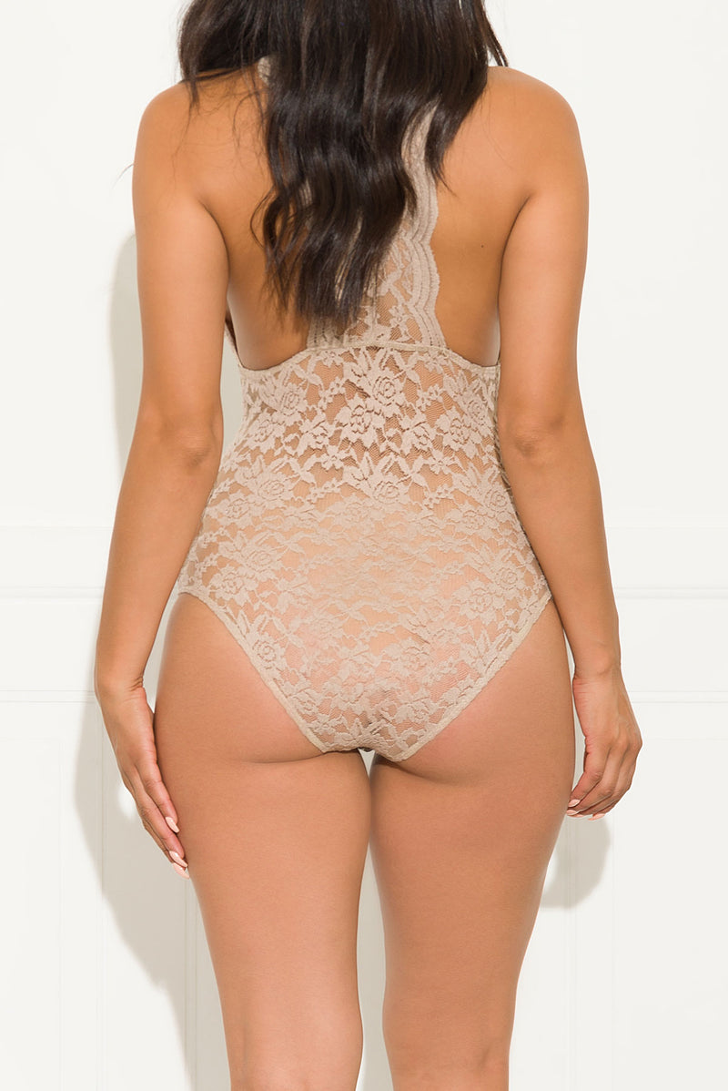 All In Lace Bodysuit Nude