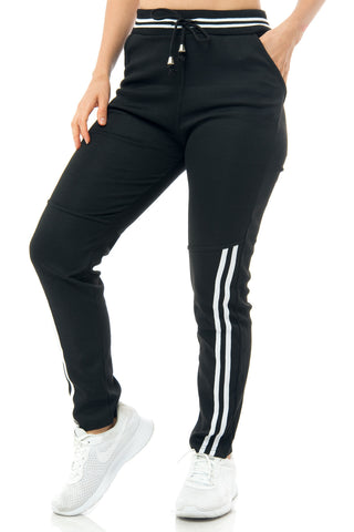 Macy Black & White Joggers - Fashion Effect Store  - 1