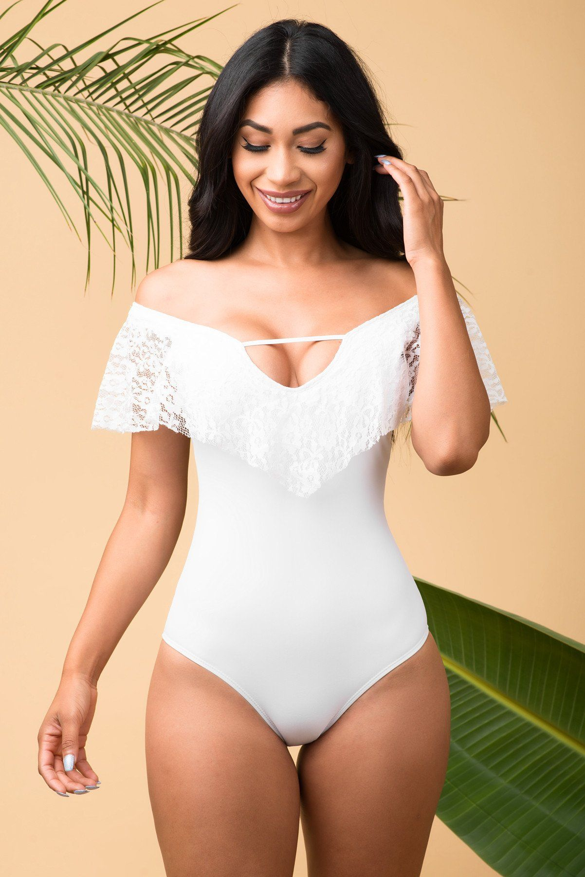 Cold Water Beach One Piece Swimsuit White
