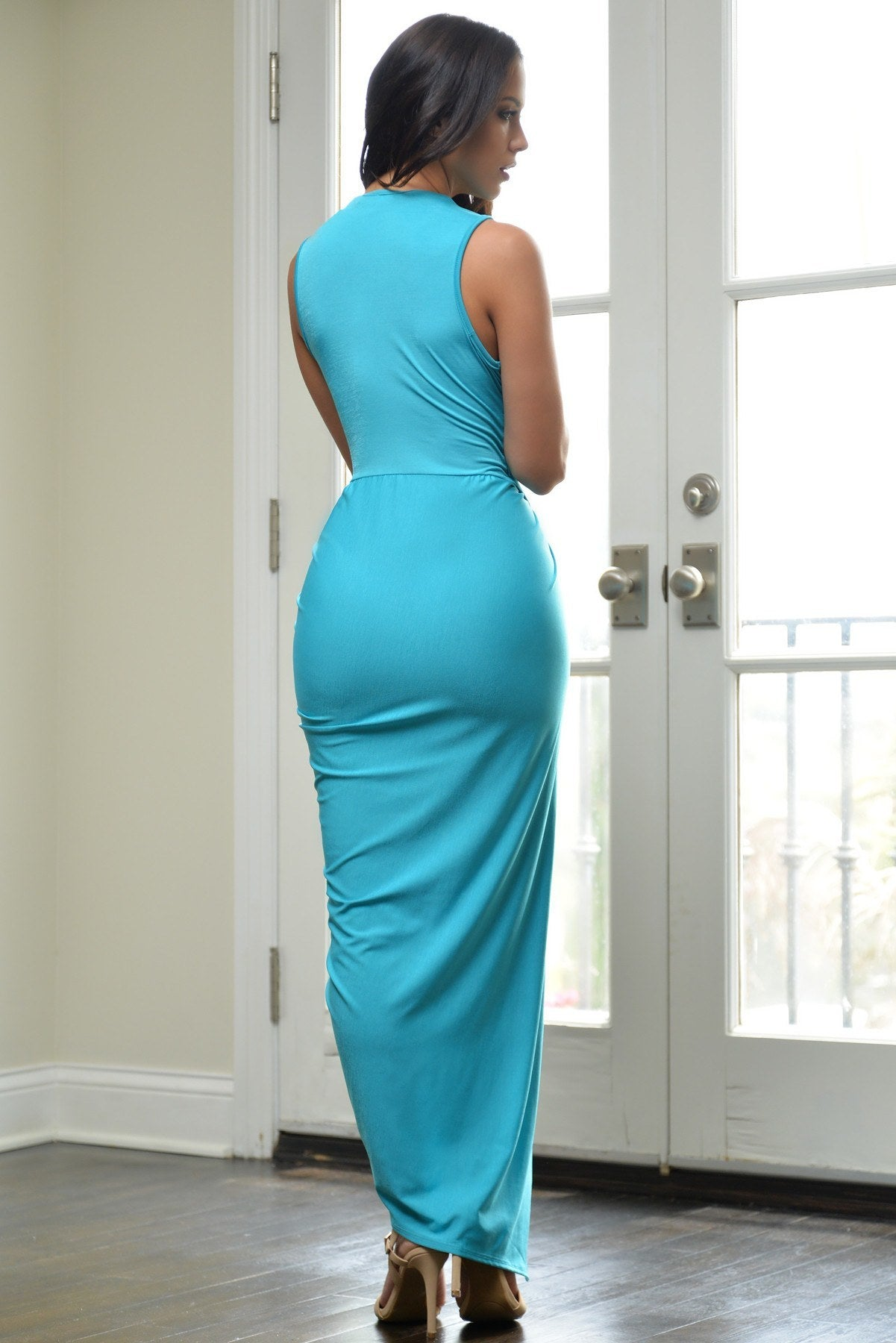 Day Dreaming Dress Turquoise - Fashion Effect Store  - 3