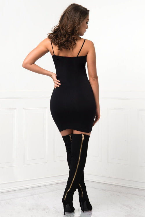 Dress - Irresistible Black Mini Dress - RESTOCKED