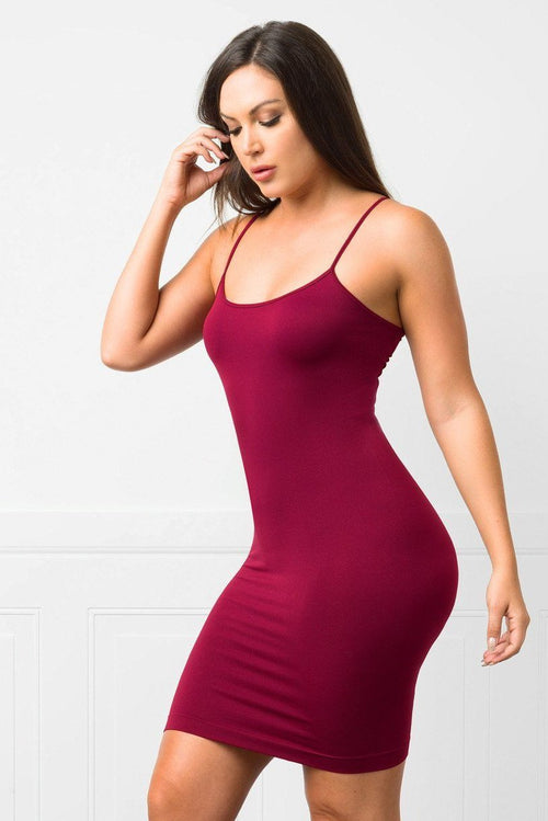 Dress - Irresistible Burgundy Mini Dress