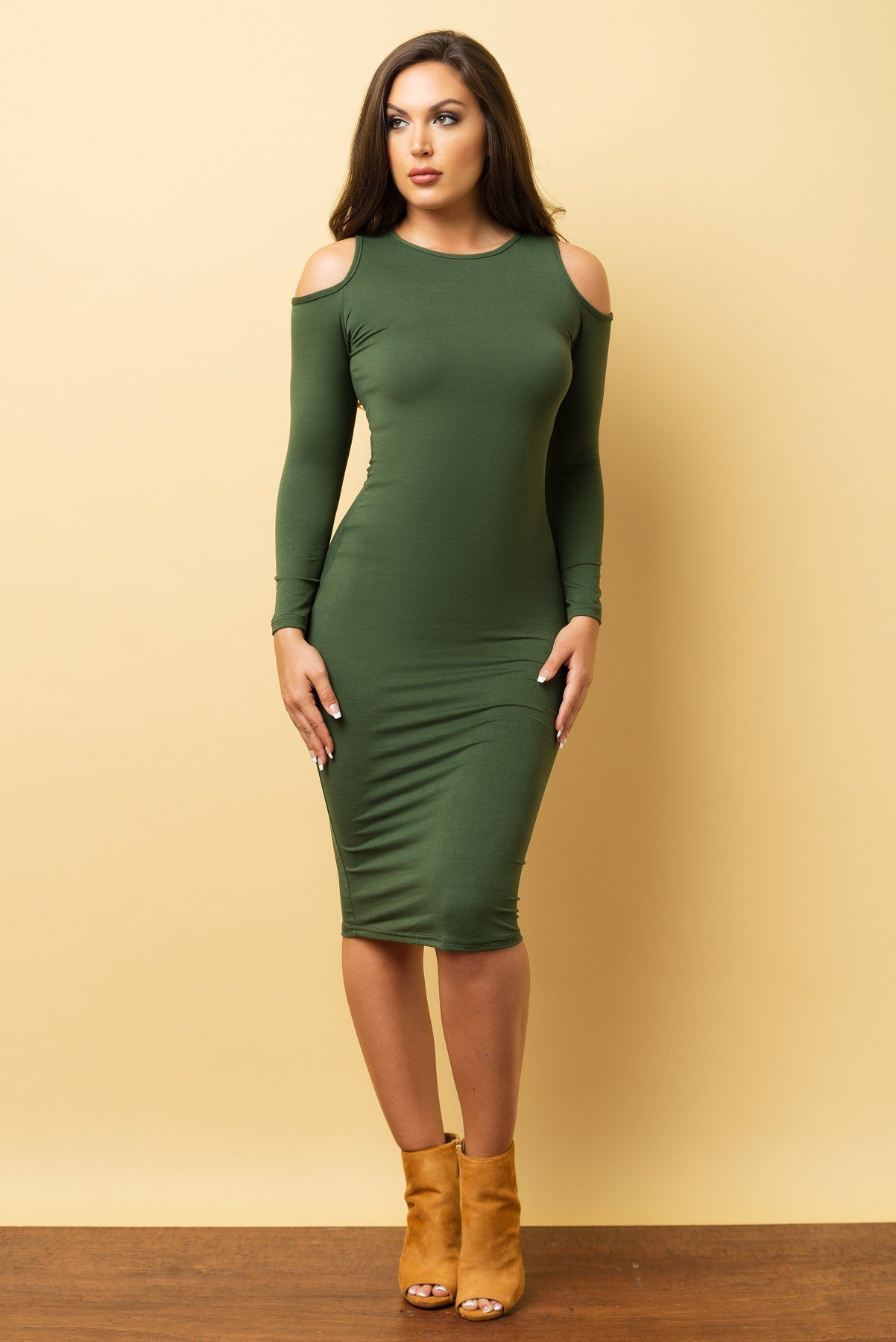 Ivana Dress Olive Fashion Effect Store