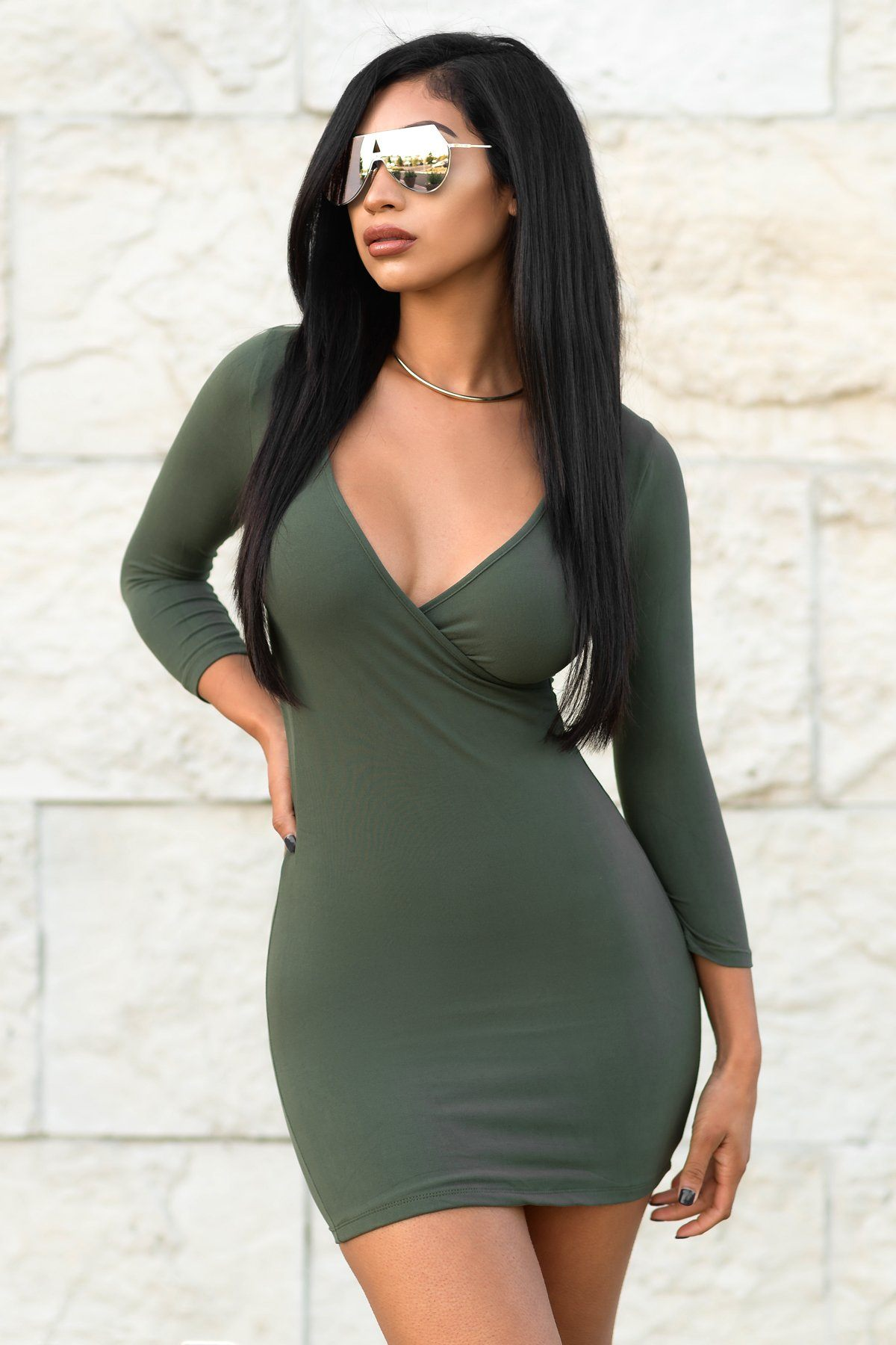 a5099f9802 Katy Dress - Olive – Fashion Effect Store