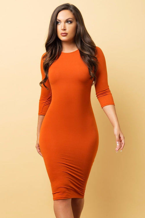 Dress - RESTOCKED Carol Dress - Orange