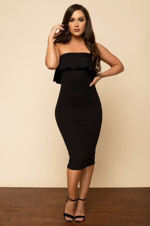 Dress - RESTOCKED Chantell Off Shoulder Dress - Black