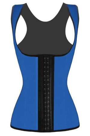 Waist Trainer Blue (with shoulder straps) - Fashion Effect Store  - 1