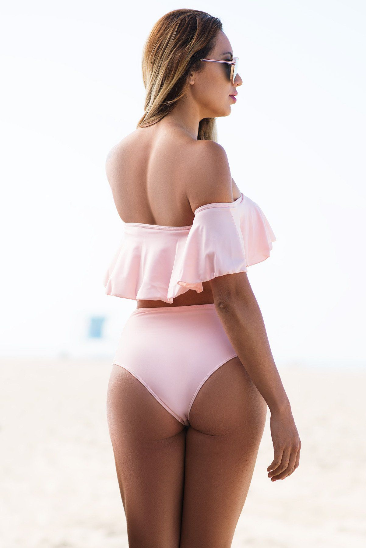 Malibu Off Shoulder Light Pink