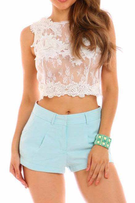 Mint to be Yours Shorts - Fashion Effect Store  - 1