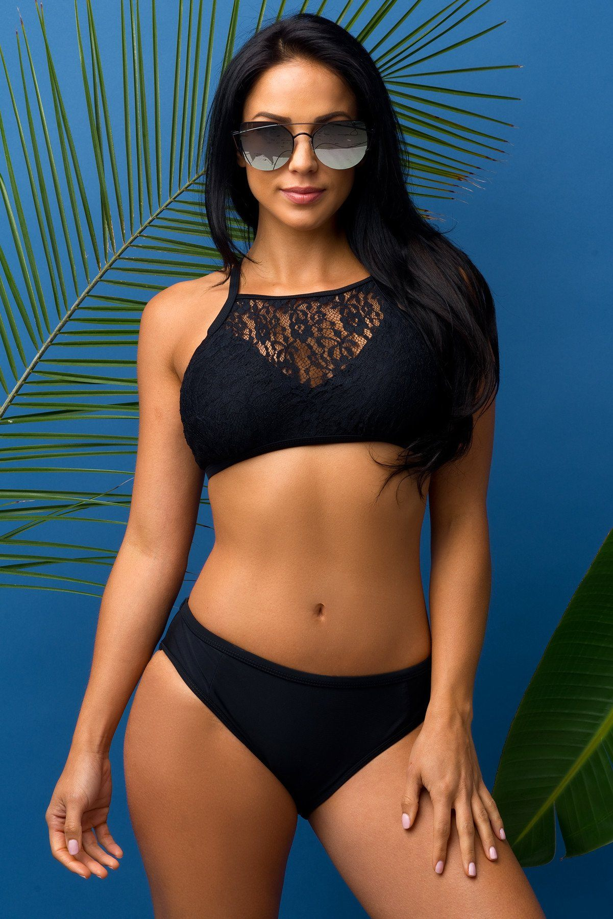 Monterey Bay Two Piece Swimsuit Black