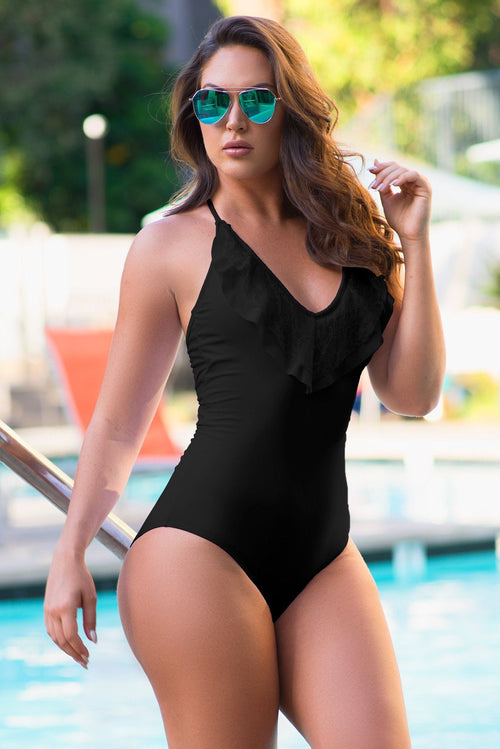 Morro Bay One Piece Swimsuit Black