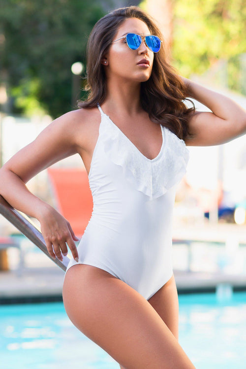 Morro Bay One Piece Swimsuit White