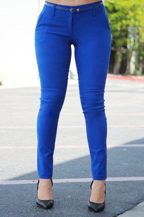 Get Down To Business Pants Royal Blue - RESTOCKED - Fashion Effect Store  - 1