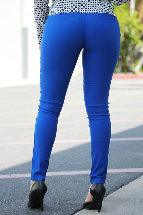 Get Down To Business Pants Royal Blue - RESTOCKED - Fashion Effect Store  - 2