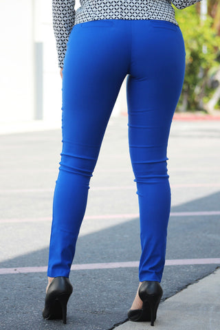 Get Down To Business Pants Royal Blue - Fashion Effect Store  - 2