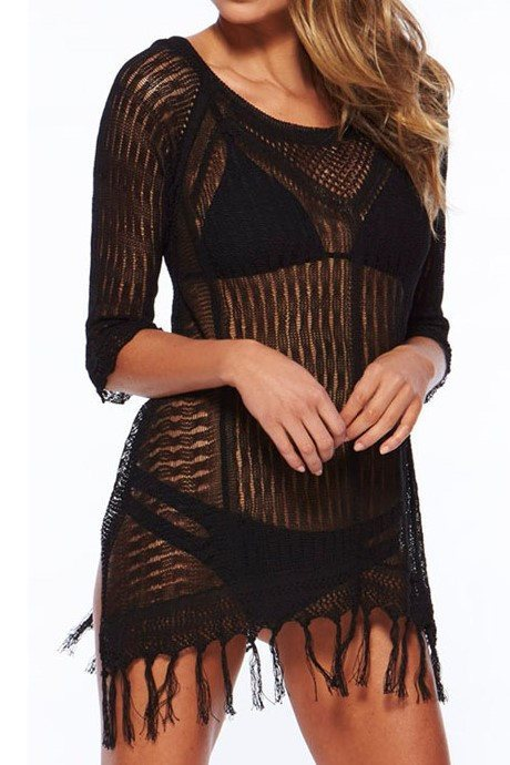 Paulina Black Cover Up - Fashion Effect Store  - 1