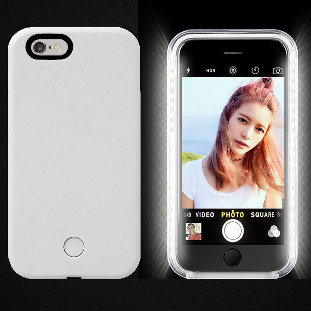 LED Light Up Selfie + Power bank Phone Cover Case Apple iPhone 6 & 6 PLUS - Fashion Effect Store  - 8