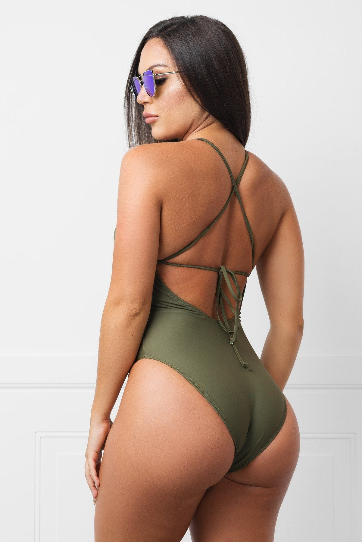Savage Bay Olive  One Piece Swimsuit