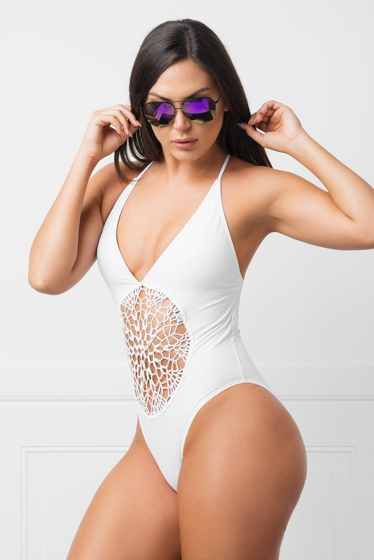 Savage Bay White  One Piece Swimsuit