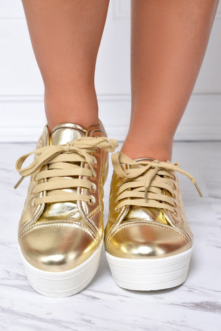 Comfy and Basic Gold Shoes - Fashion Effect Store  - 1