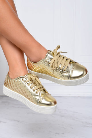 Comfy and Basic Gold Shoes - Fashion Effect Store  - 2