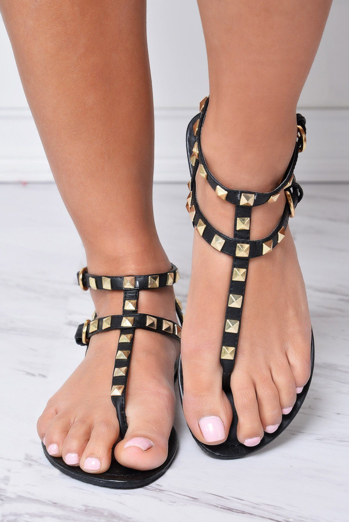 First Class Black Sandals - Fashion Effect Store  - 1