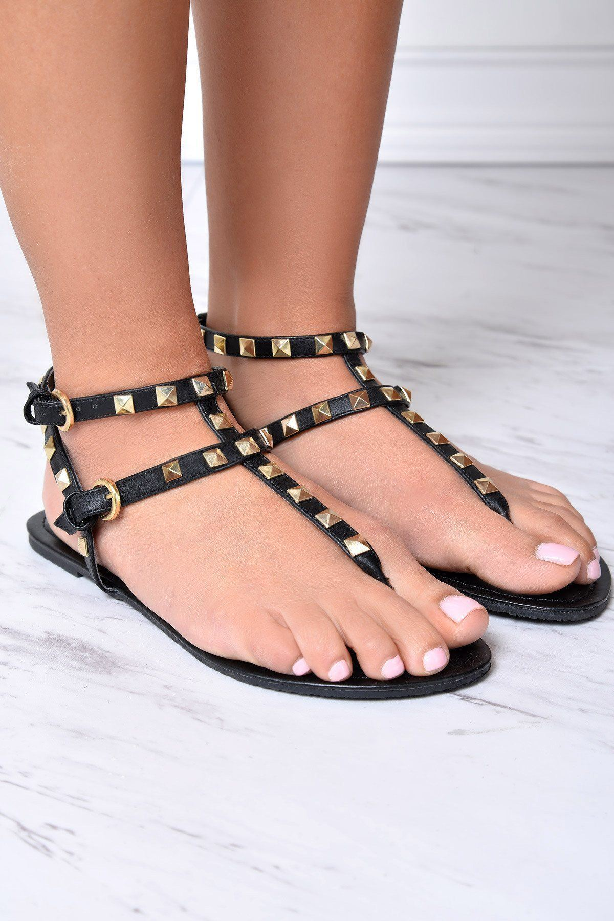 First Class Black Sandals - Fashion Effect Store  - 2