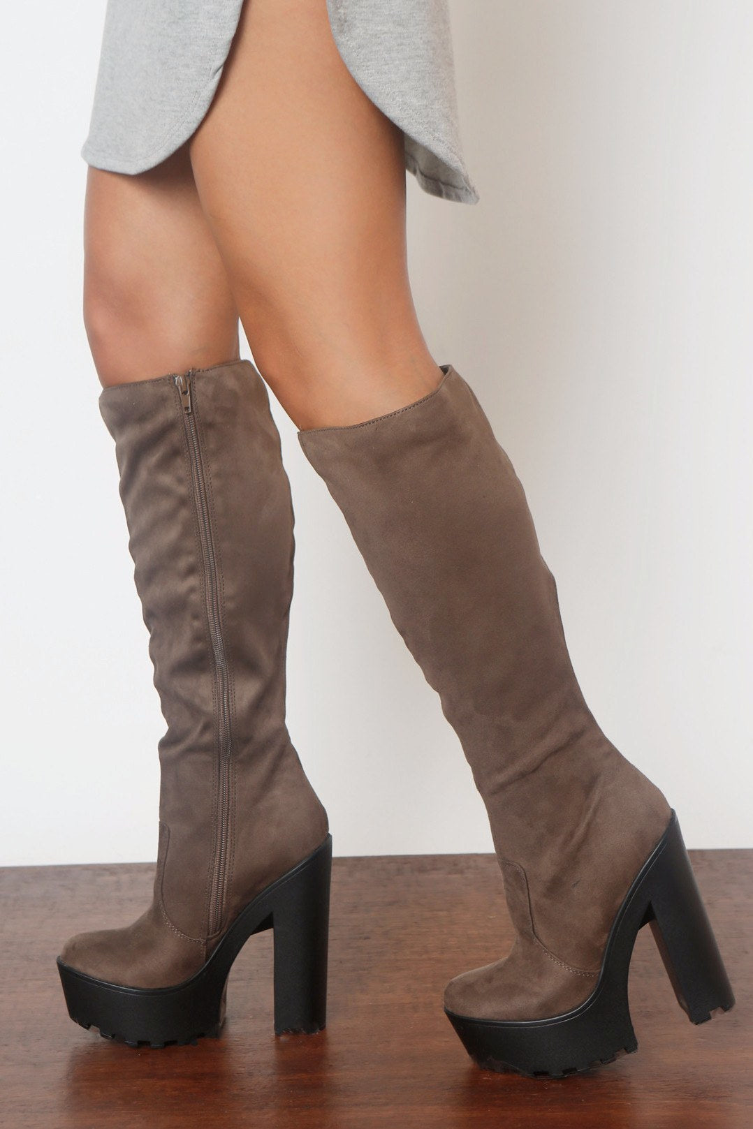 Hey Days Suede Taupe Boots - Fashion Effect Store  - 2