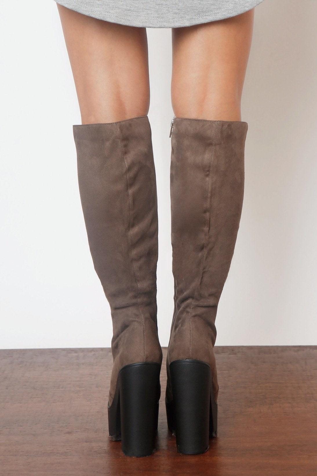 Hey Days Suede Taupe Boots - Fashion Effect Store  - 3