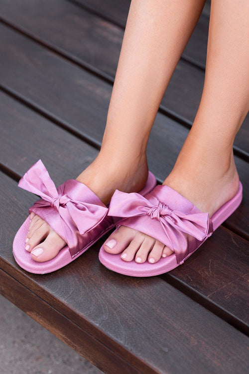 Shoes - Low Key  Silk Slide Sandals