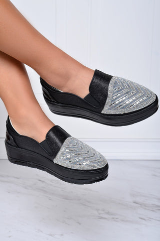 On Trend Black Sneakers - Fashion Effect Store  - 1