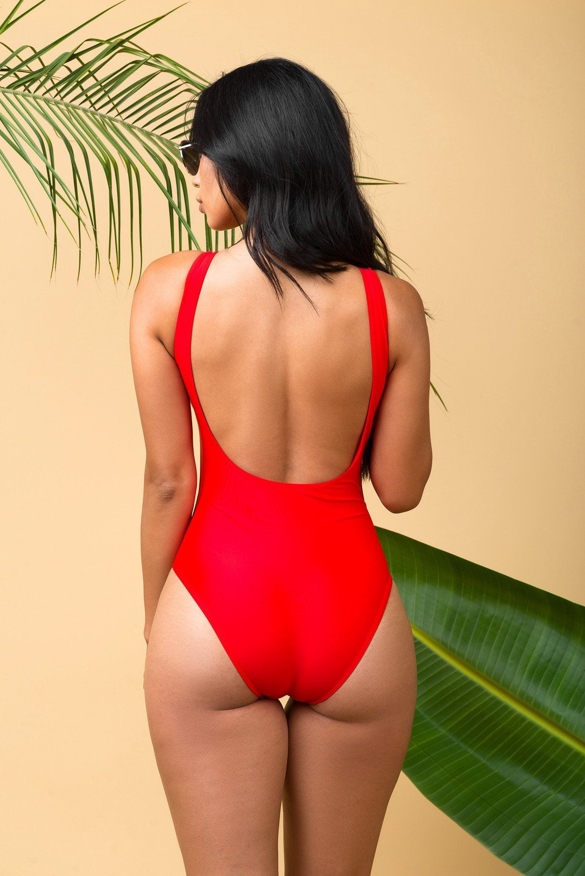 SLAY  One Piece Swimsuit RED