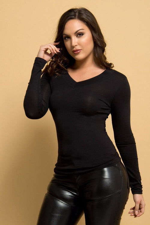 Sw - Cassandra Long Sleeve Top BLACK- RESTOCKED