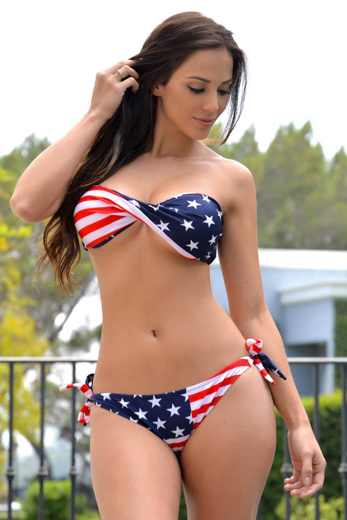 American Flag Swimsuit - Fashion Effect Store  - 1