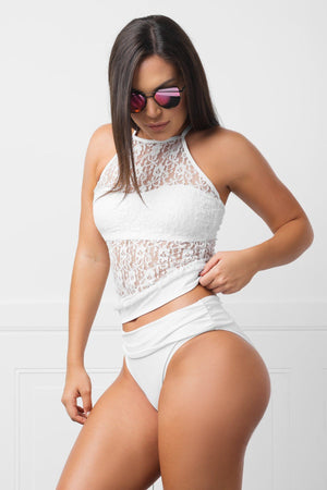 Swimwear - Big Sur White Swimsuit Two Pieces