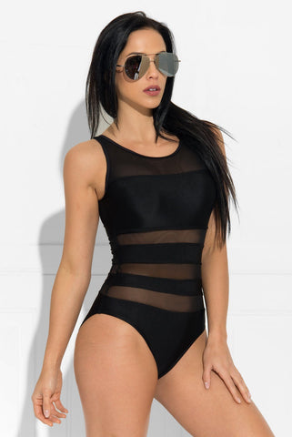 Anguilla  One Piece Swimsuit Black