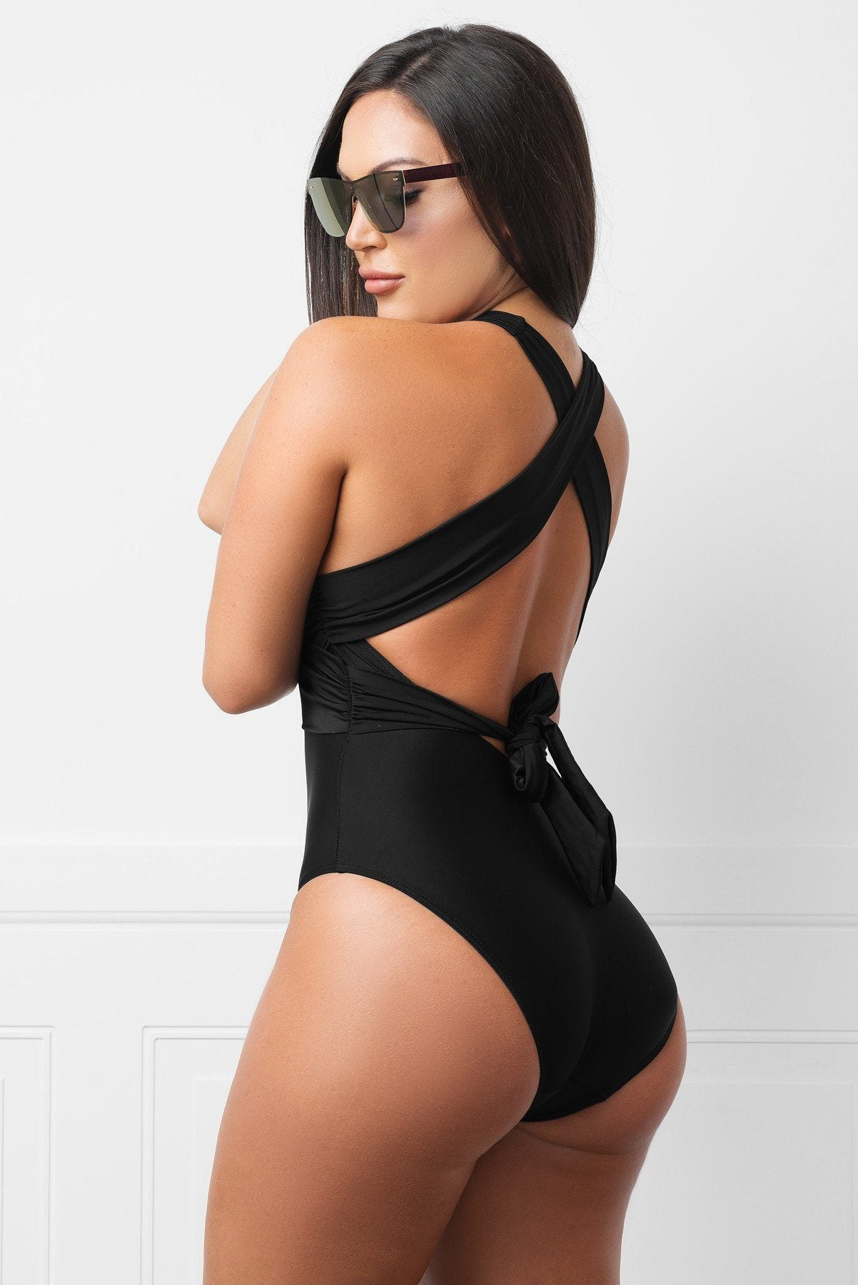Swimwear - Exuma Black  One Piece Swimsuit
