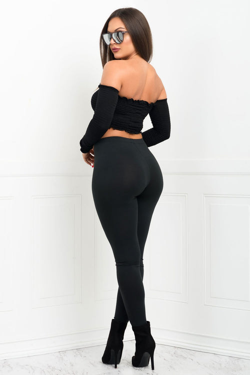 Top - RESTOCKED Jane Leggings - Black