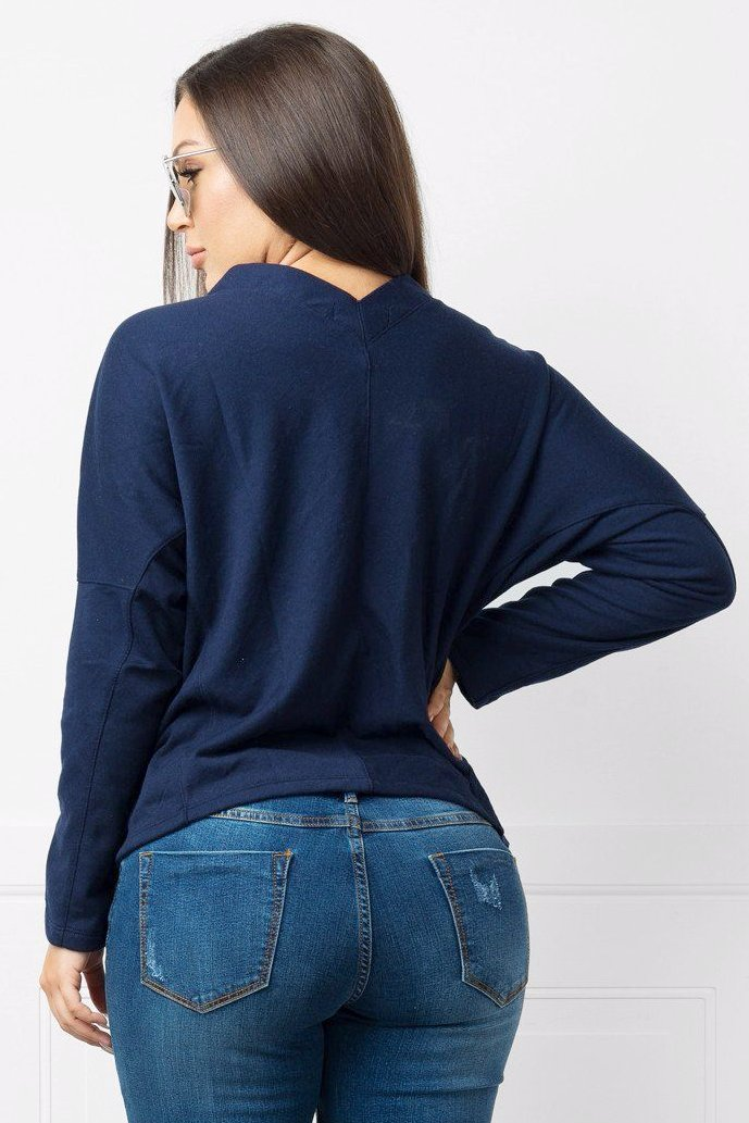 Top - RESTOCKED Jossie Navy Blue Sweater Shirt