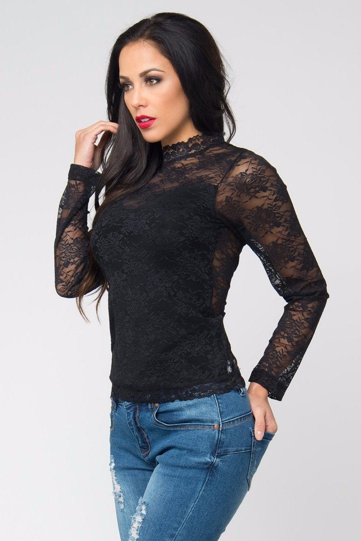 Tops & Sweters - Always And Forever Black Lace Top RESTOCKED