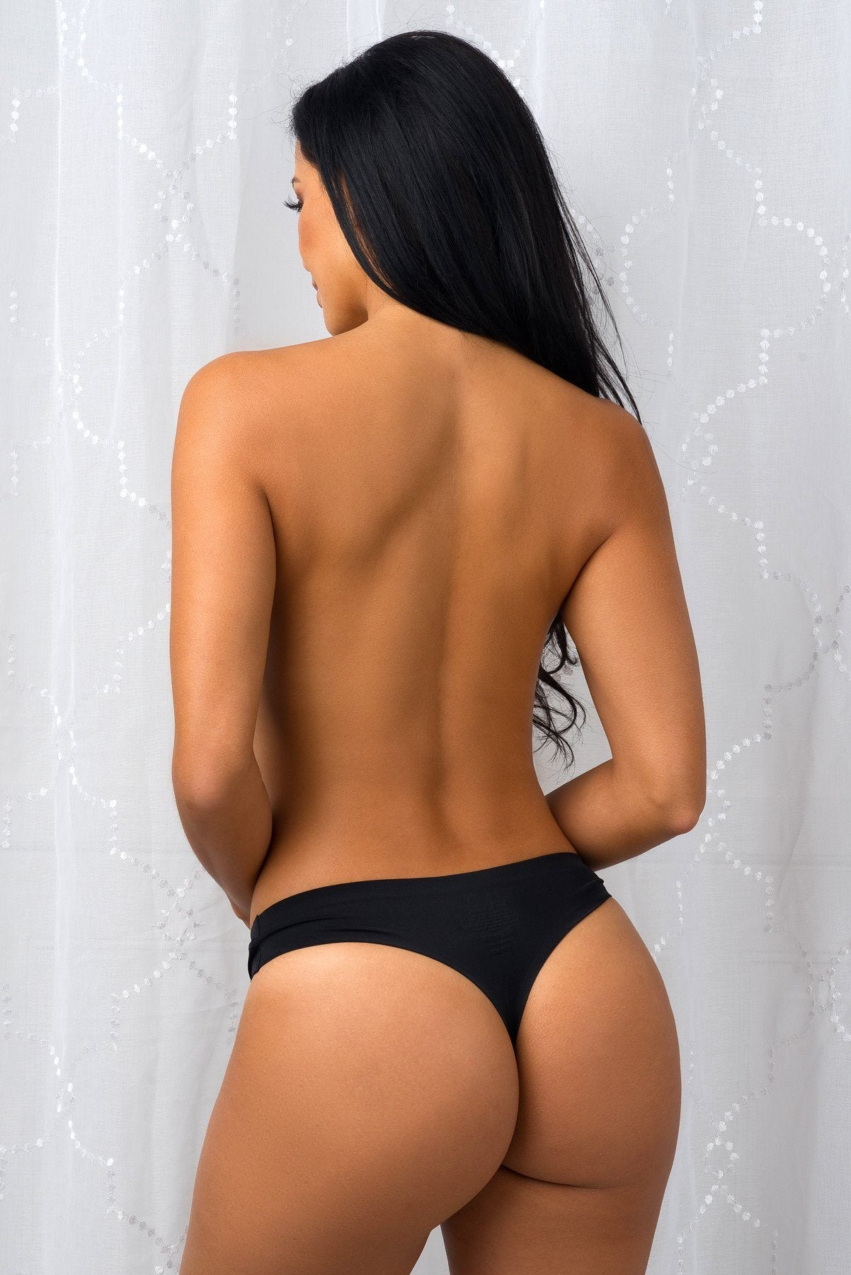 Tops & Sweters - Seamless Thong Black