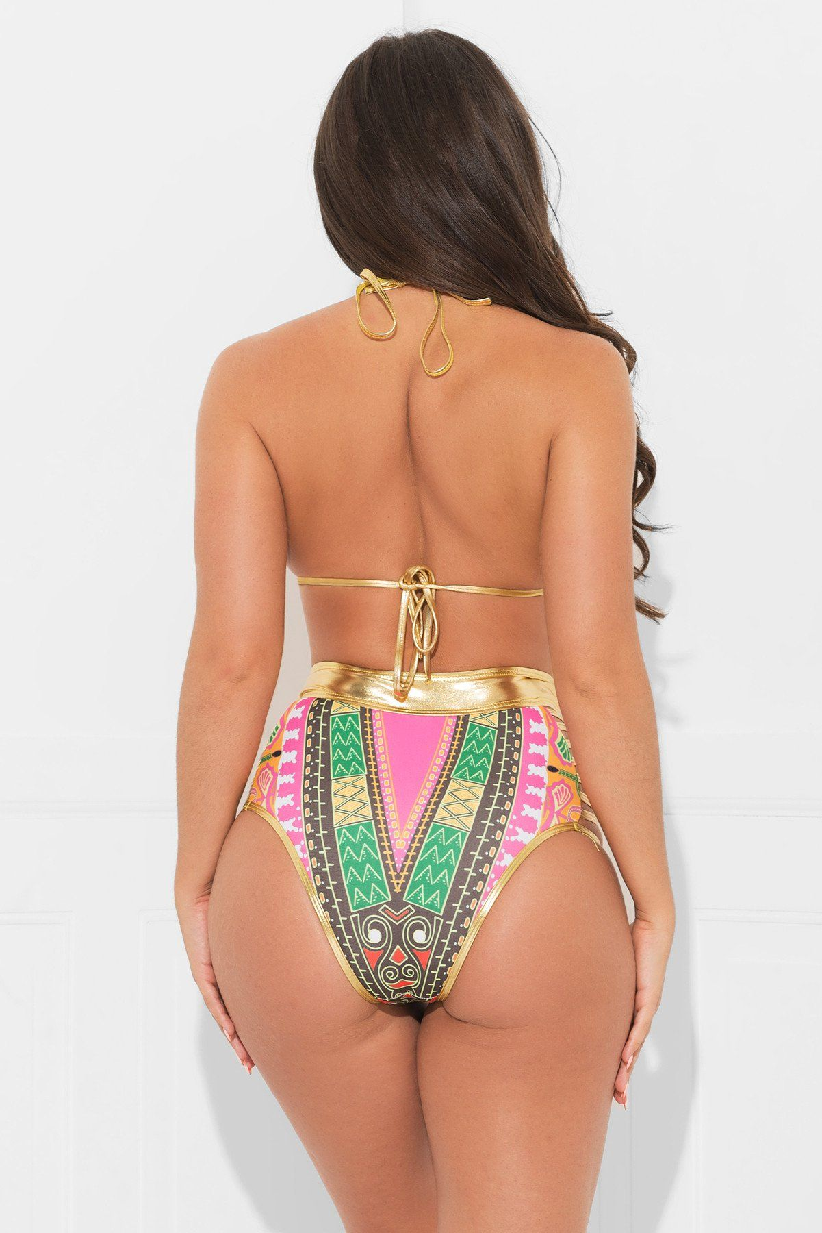 Tropic Coast Two Piece Swimsuit Pink