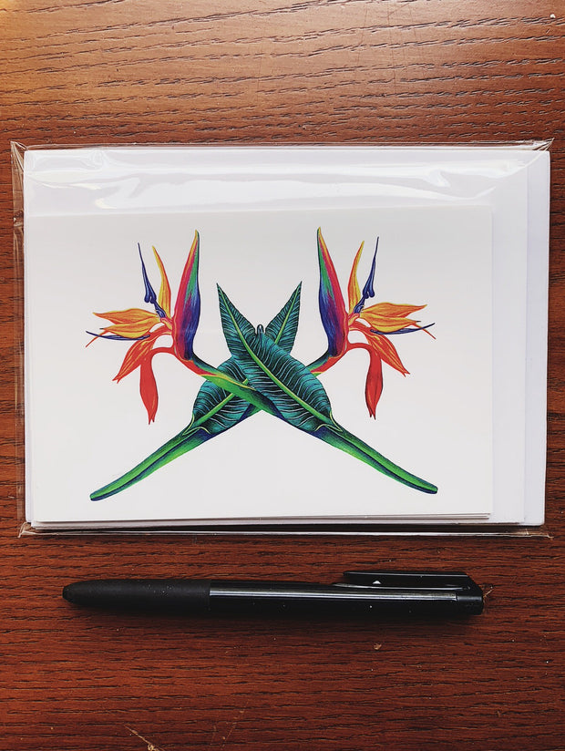 Note Card Pack with Envelopes - Bird of Paradise 1