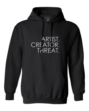 Load image into Gallery viewer, Artist.Creator.Threat. Hoodie