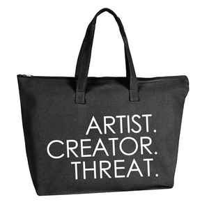 Load image into Gallery viewer, Artist.Creator.Threat Canvas Tote - Dopeciety - 1