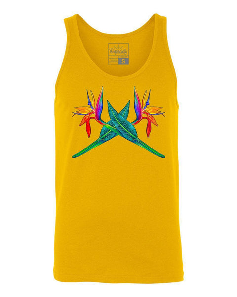 Bird of Paradise tanktop, goldenrod